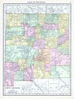 New Mexico, World Atlas 1913
